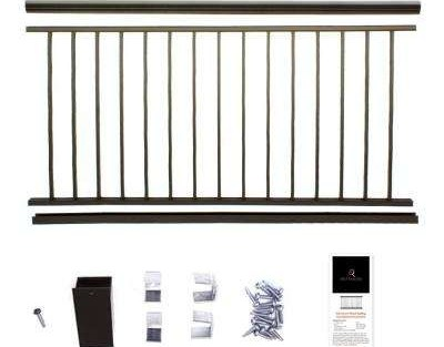 Bronze Deck Railings Decking The Home Depot   Wrought Iron Railings Home Depot   Brown   Ironsmith   Staircase   Fancy   Banister