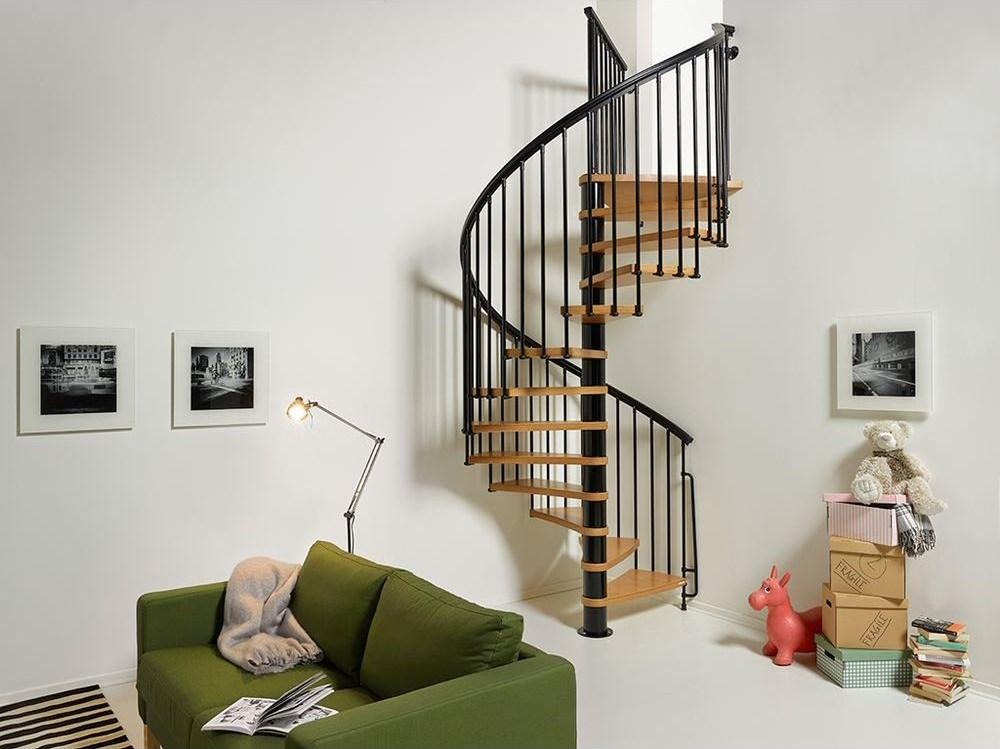 Arke Nice1 63 In Black Spiral Staircase Kit K50107 The Home Depot | Outdoor Spiral Staircase Home Depot | Reroute Galvanized | Handrail | Arke Nice1 | Arke Enduro | Galvanized Exterior