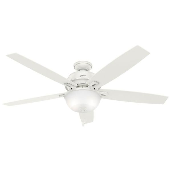 Home Depot Ceiling Fans Hunter   Restaurant Interior Design Drawing     hunter donegan 60 in led indoor fresh white ceiling fan with light rh  homedepot com home depot hunter outdoor ceiling fans home depot hunter  ceiling fans