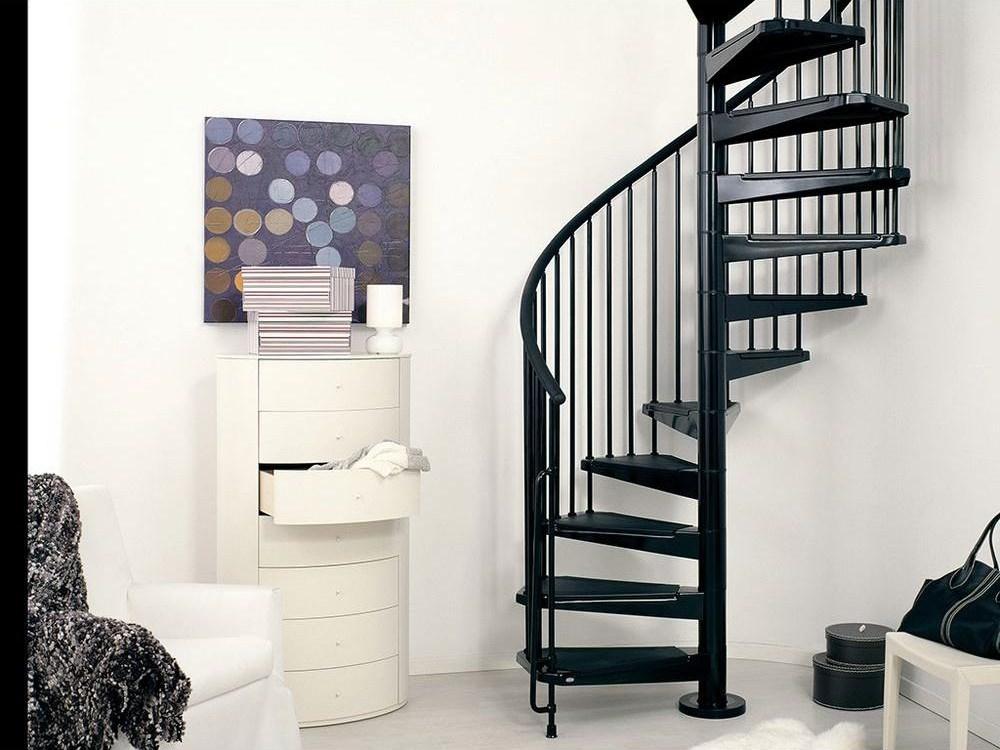 Arke Civik 47 In Black Spiral Staircase Kit K03016 The Home Depot | Outdoor Spiral Staircase Home Depot | Reroute Galvanized | Handrail | Arke Nice1 | Arke Enduro | Galvanized Exterior