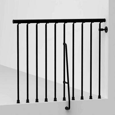 Black Deck Stair Railings Deck Railings The Home Depot   Interior Railings Home Depot   Entryway Stair   Cast Iron   Upstairs   Gallery   Pre Assembled