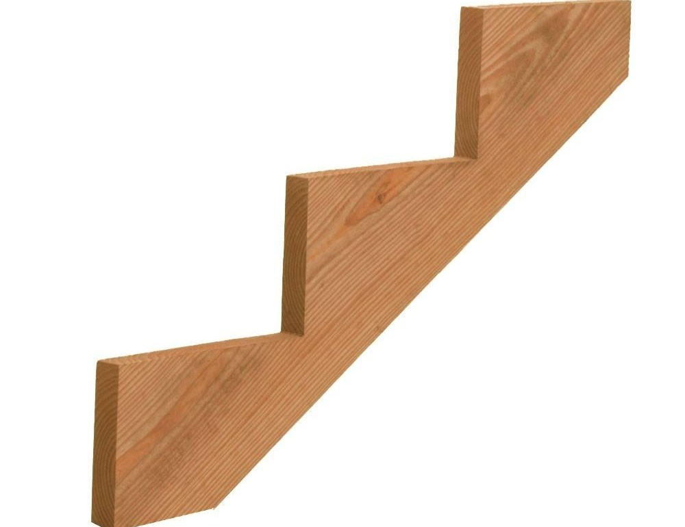 3 Step Weather Shield Pressure Treated Wood Cedar Tone Stair | 2 Step Outdoor Stairs | Landing | Exterior | Redwood Deck | Cantilever Deck | 8 Foot