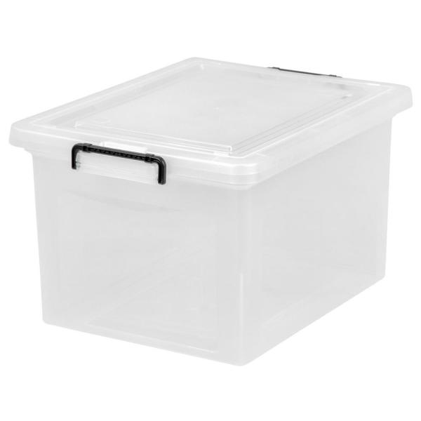 IRIS 56 Qt  Letter Size Wing Lid File Storage Box in Clear 139571     IRIS 56 Qt  Letter Size Wing Lid File Storage Box in Clear