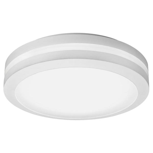 Lithonia Lighting White Outdoor Integrated LED Decorative Flush     Lithonia Lighting White Outdoor Integrated LED Decorative Flush Mount