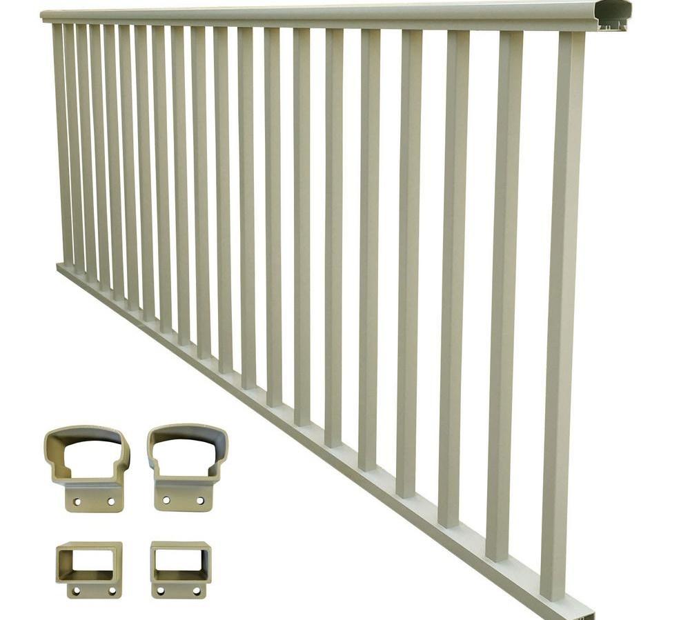 Ez Handrail The Home Depot | Metal Handrail Home Depot | Deck Stairs | Outdoor Handrails | Balusters | Porch Railings | Aluminum Railing