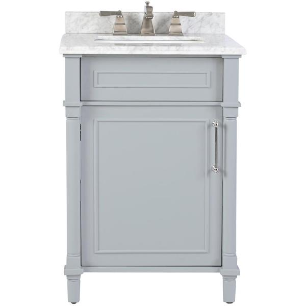 Home Decorators Collection Aberdeen 24 in  W x 22 in  D Bath Vanity     Home Decorators Collection Aberdeen 24 in  W x 22 in  D Bath Vanity in