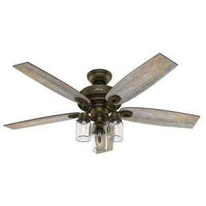 Rustic   Ceiling Fans   Lighting   The Home Depot Indoor Regal Bronze Ceiling Fan