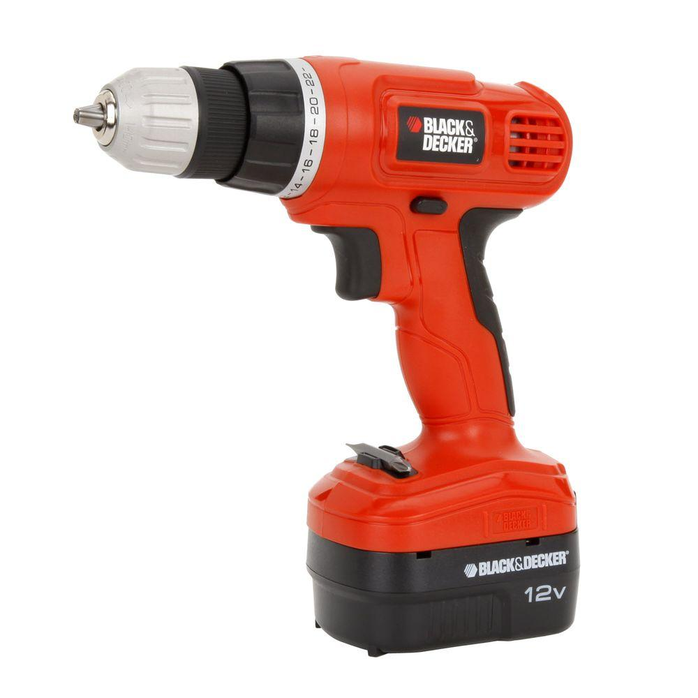 BLACK+DECKER 12-Volt NiCd Cordless 3/8 in. Drill with Soft ...