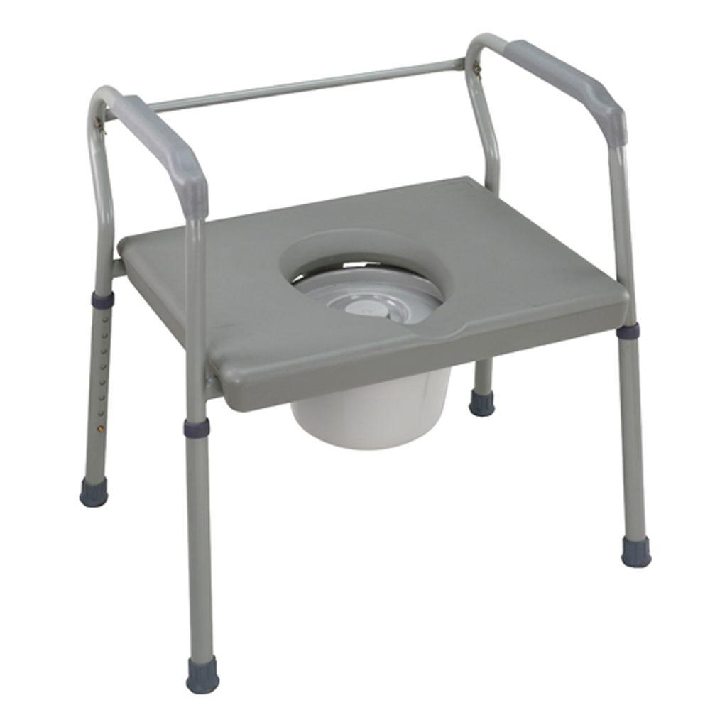 DMI Duro Med Heavy Duty Steel Commode with Platform Seat 802 1208     DMI Duro Med Heavy Duty Steel Commode with Platform Seat