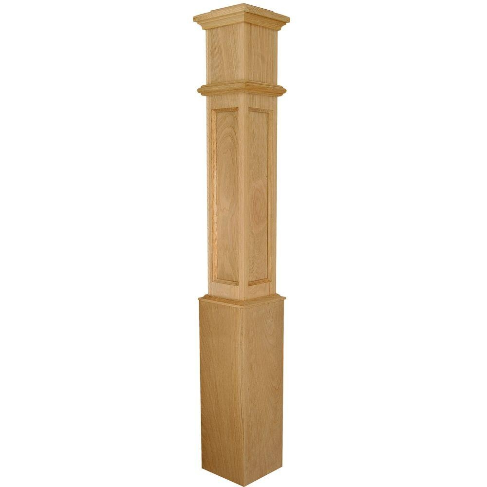 Stair Parts 4098 56 In X 7 1 2 In White Oak Flat Panel | Home Depot Newel Posts