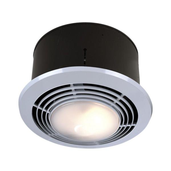 70 CFM Ceiling Exhaust Fan with Light and Heater 9093WH   The Home Depot 70 CFM Ceiling Exhaust Fan with Light and Heater