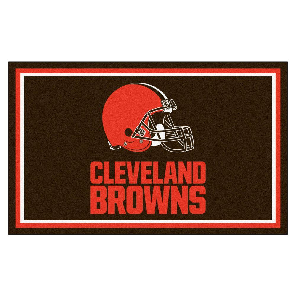 FANMATS Cleveland Browns 4 ft. x 6 ft. Area Rug-6571 - The ...
