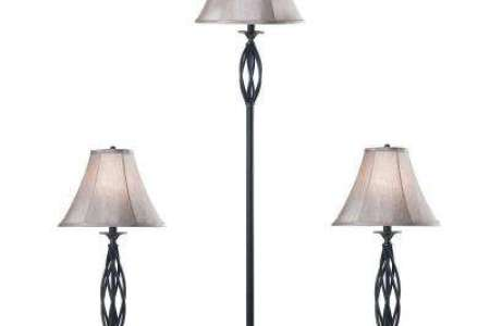 Lamp Sets   Lamps   The Home Depot Bronze 2 Table and 1 Floor Lamp Set