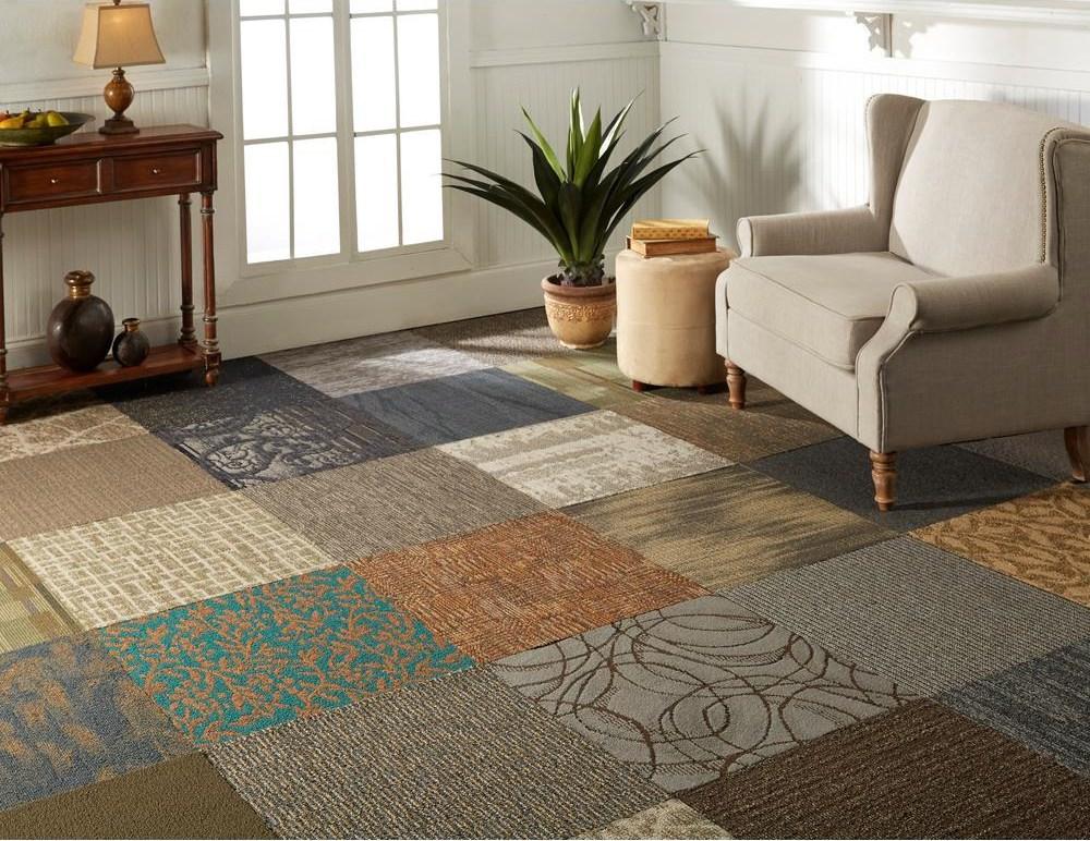 Nance Carpet And Rug Versatile Assorted Pattern Commercial Peel   Carpet Tiles For Stairs Home Depot   Stair Runner   Eurotile   Stainless Steel   Stair Tread   Beige Carpet