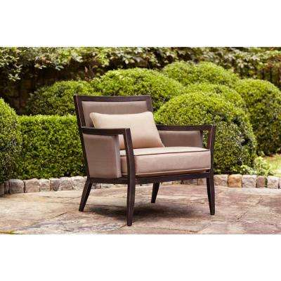 Clearance   Patio Chairs   Patio Furniture   The Home Depot Greystone Patio Lounge Chair with Sparrow Cushions    STOCK
