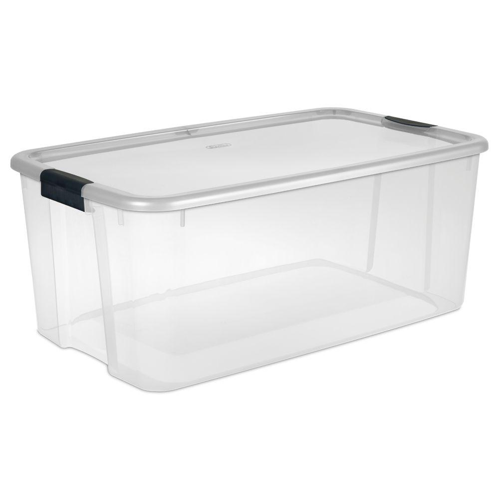 Best Kitchen Gallery: Sterilite 116 Qt Ultra Storage Box 19908604 The Home Depot of Plastic Storage Containers on rachelxblog.com
