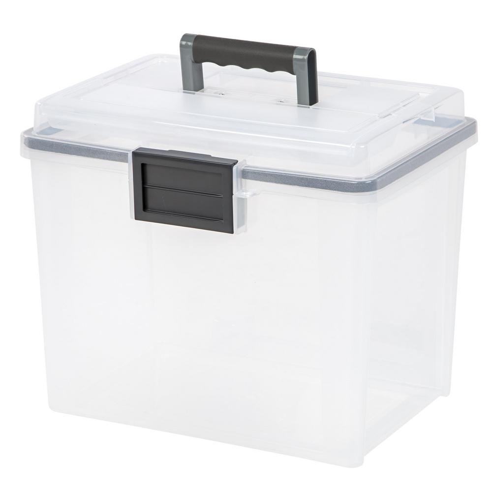 Best Kitchen Gallery: Iris 19 Qt Portable Weather Tight File Storage Box In Clear 110350 of Plastic Storage Containers By Size on rachelxblog.com