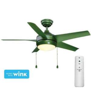Green   LED   Quick Install   Ceiling Fans With Lights   Ceiling     LED Green Smart Ceiling Fan with Light Kit and WINK Remote Control