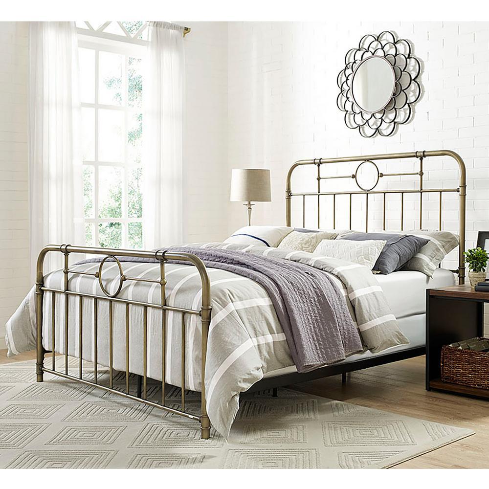 Walker Edison Furniture Company Bronze Queen Bed Frame