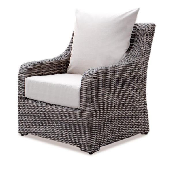 AE Outdoor Cherry Hill Wicker Outdoor Lounge Chair with Cast Ash     AE Outdoor Cherry Hill Wicker Outdoor Lounge Chair with Cast Ash Cushion