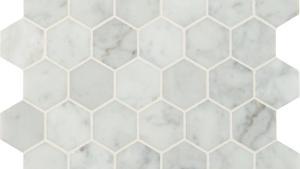 MSI Carrara White Hexagon 12 In X 12 In X 10mm Polished
