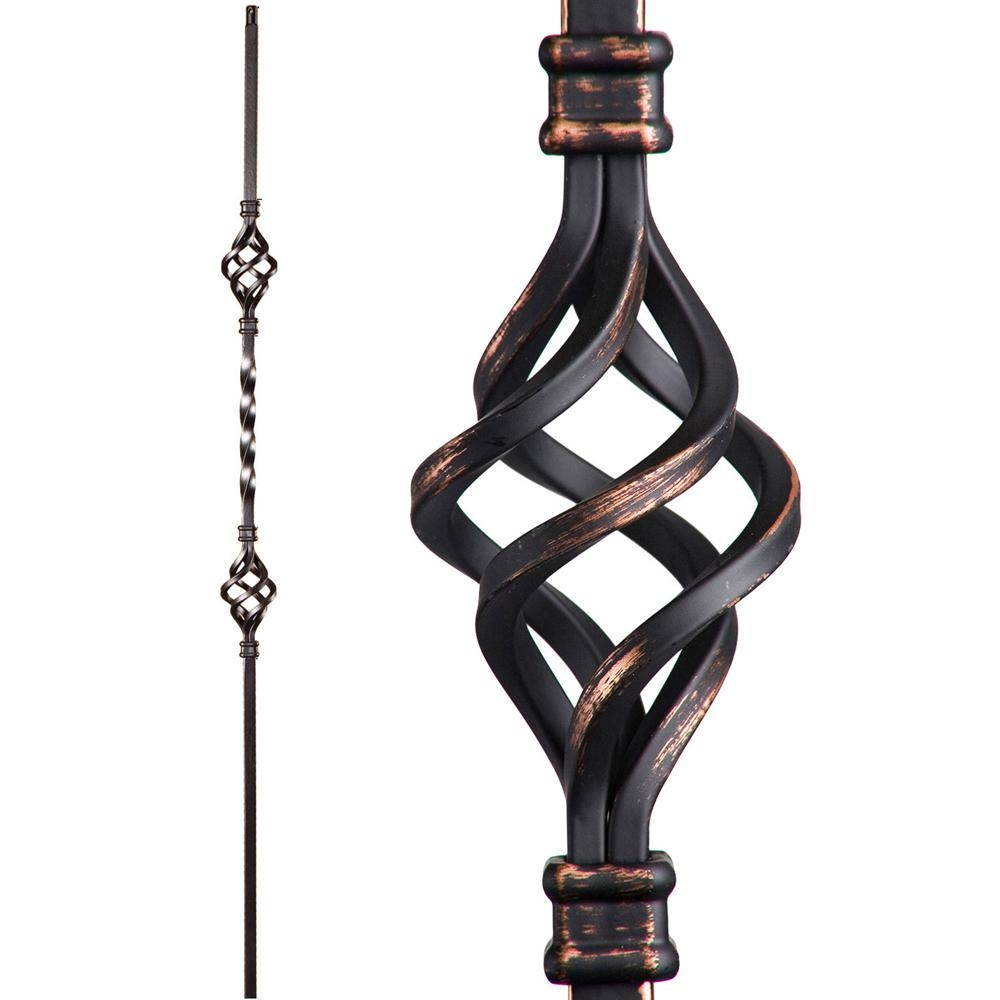 House Of Forgings Twist And Basket 44 In X 5 In Oil | Metal Spindles Home Depot