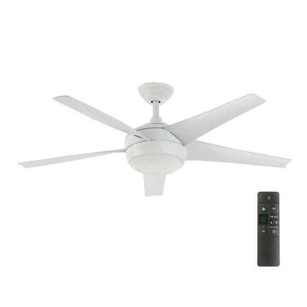 Home Decorators Collection Windward IV 52 in  LED Indoor Matte White     Home Decorators Collection Windward IV 52 in  LED Indoor Matte White  Ceiling Fan with Light Kit and Remote Control 26662   The Home Depot