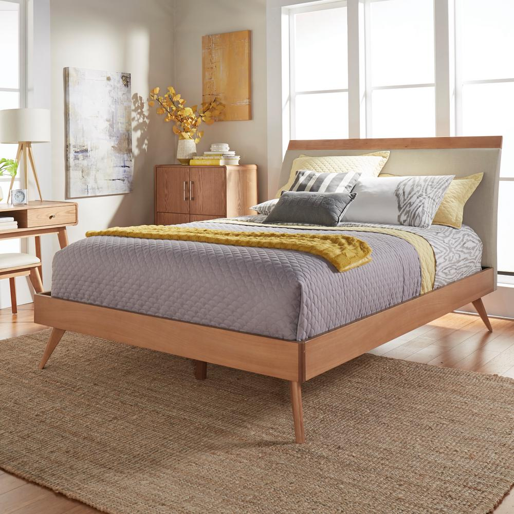 HomeSullivan Holbrook Natural King Platform Bed 401915K 1EKB   The     HomeSullivan Holbrook Natural King Platform Bed