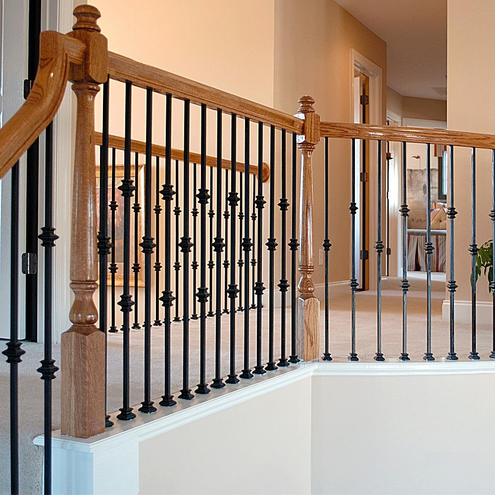 Stair Parts 1 2 In Matte Black Metal Knuckle Fitting I345B 000 | Black Metal Handrail For Stairs | Rod Iron | Metal Railing | Iron Pipe | Natural Wood | Artistic