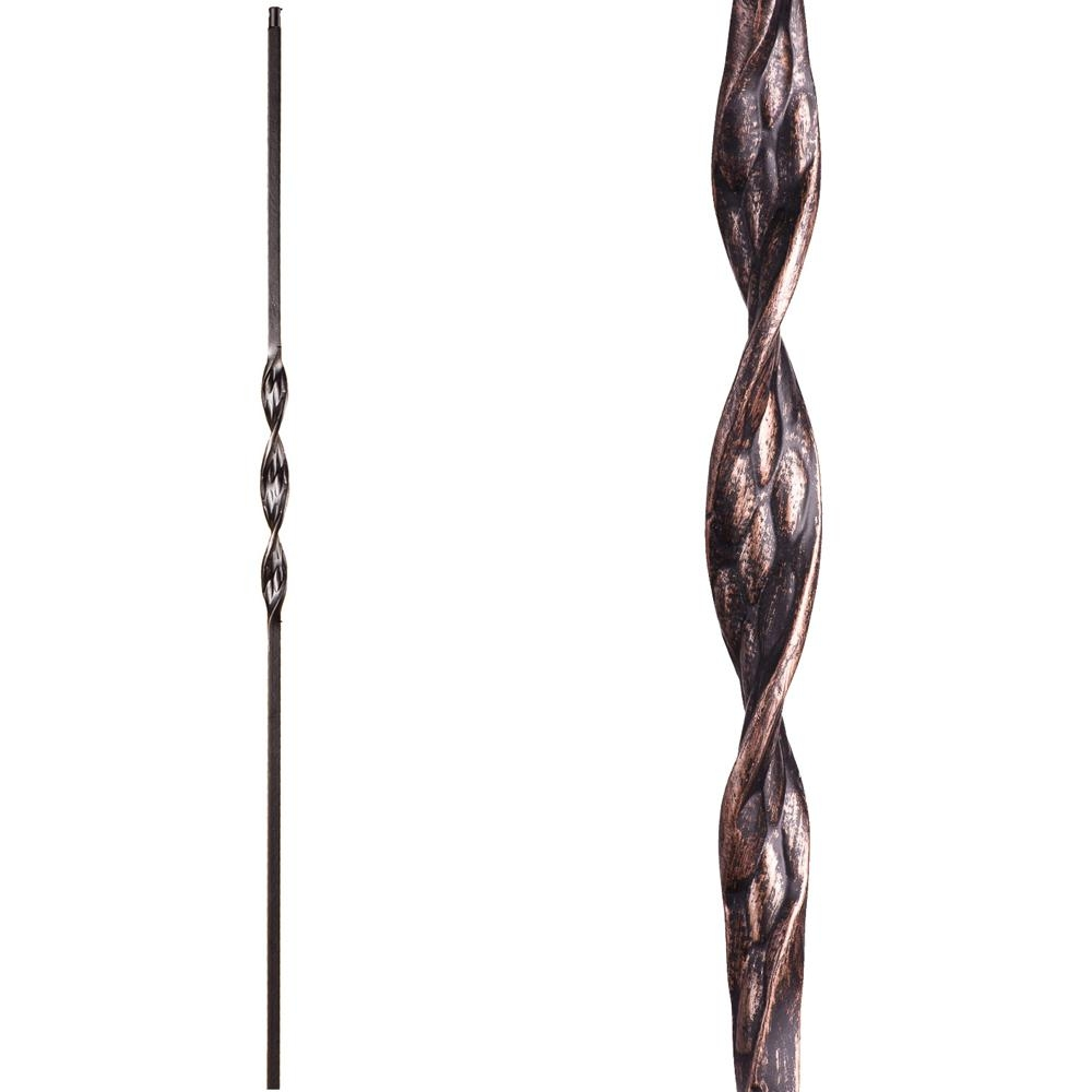 House Of Forgings Ribbon Twist 44 In X 5 In Oil Rubbed Bronze   Wrought Iron Balusters Home Depot   Silver Vein   Oil Rubbed Bronze   Solid Wrought   Baluster Railing   Tuscan Round