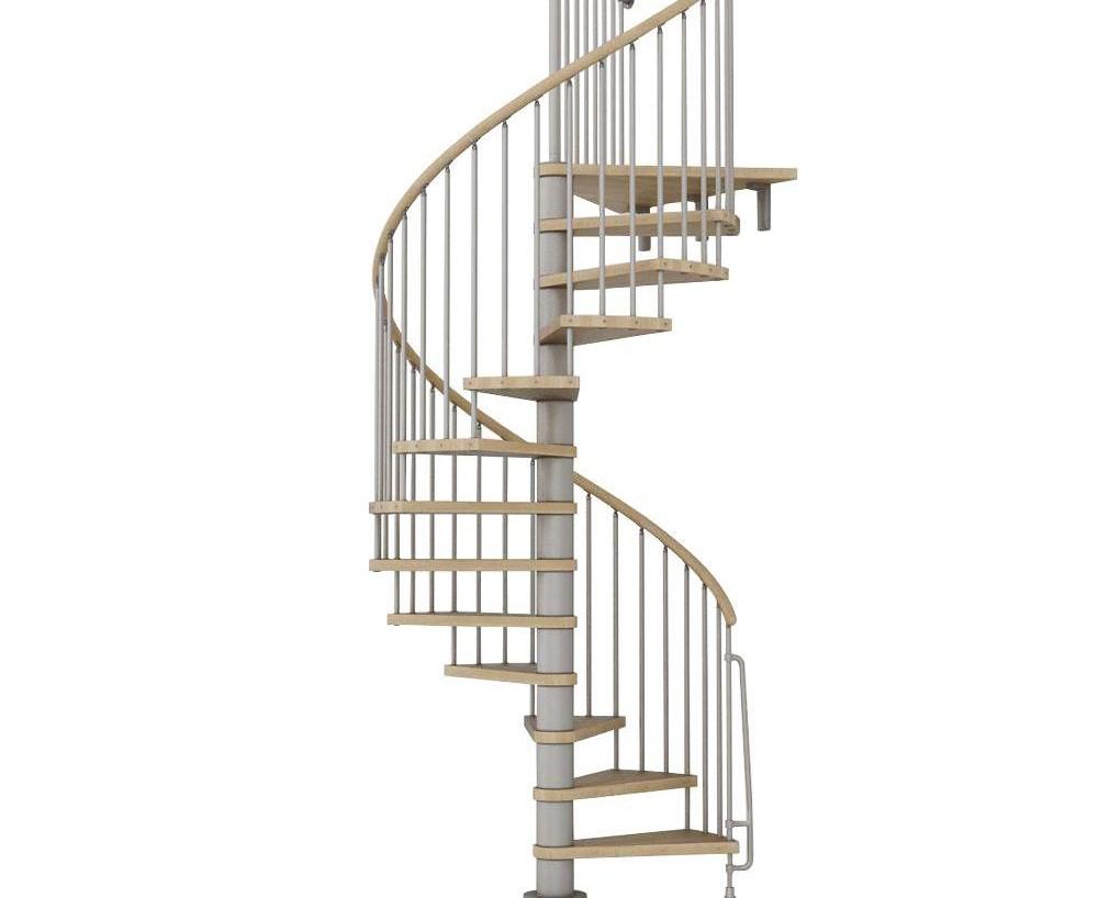 Arke Phoenix 63 In Grey Spiral Staircase Kit K07146 The Home Depot   Spiral Staircase Home Depot   Steel   90 Degree   Alternating Tread   Outdoor   Small Metal