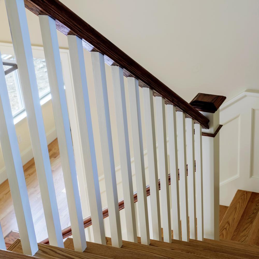 Stair Parts 6510 8 Ft Unfinished White Oak Stair Handrail 6510W | White Oak Handrail Round | Flooring | Wood Handrail | Foyer | Mopstick | Staircase