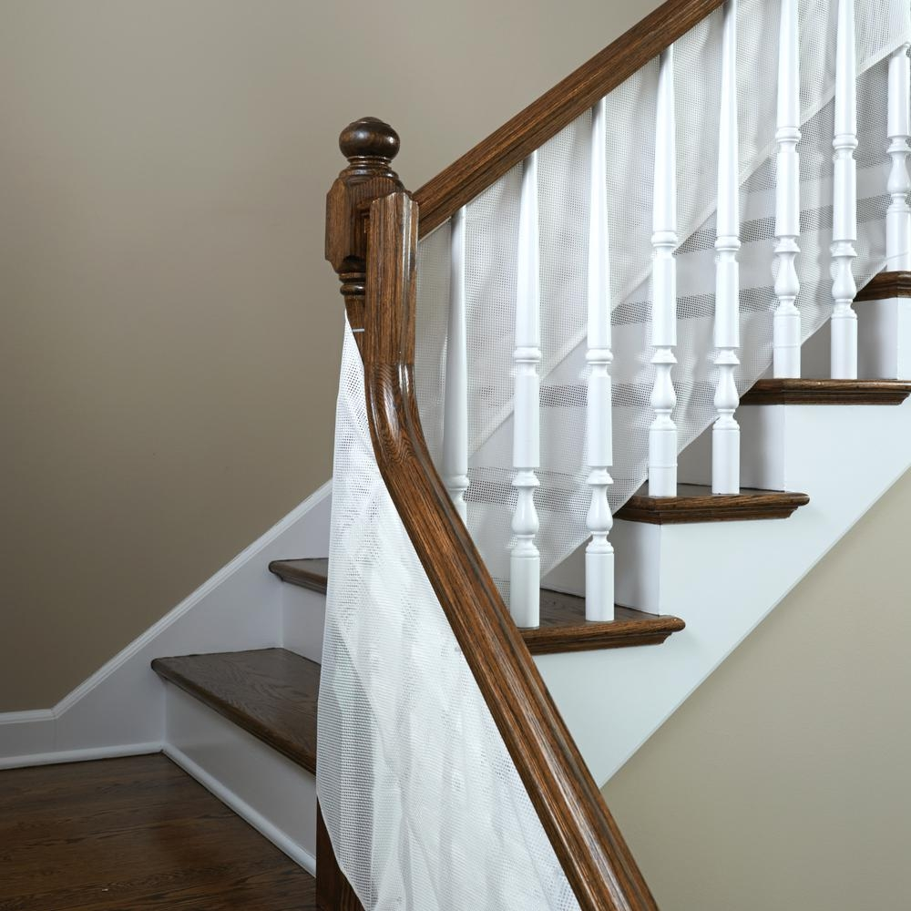 Kidco 180 In Mesh Rail Guard S305 The Home Depot   Banister Railing Home Depot   3 Step   Build In   Entry   Beginner   Round