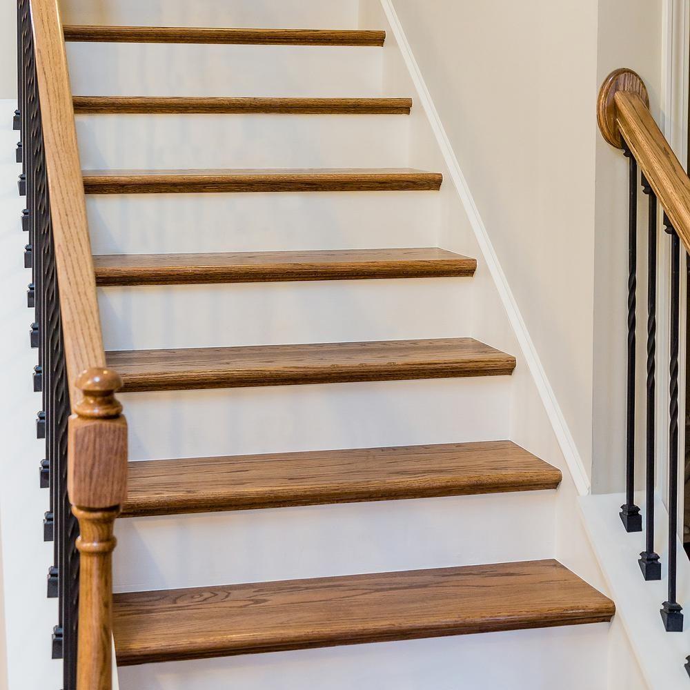11 1 2 In X 36 In Red Oak Engineered Plain Stair Tread 8530R 036 | Wood Floor Stair Treads | Brazilian Cherry | Stair Nosing | Oak Stair Risers | Vinyl Flooring | Carpet
