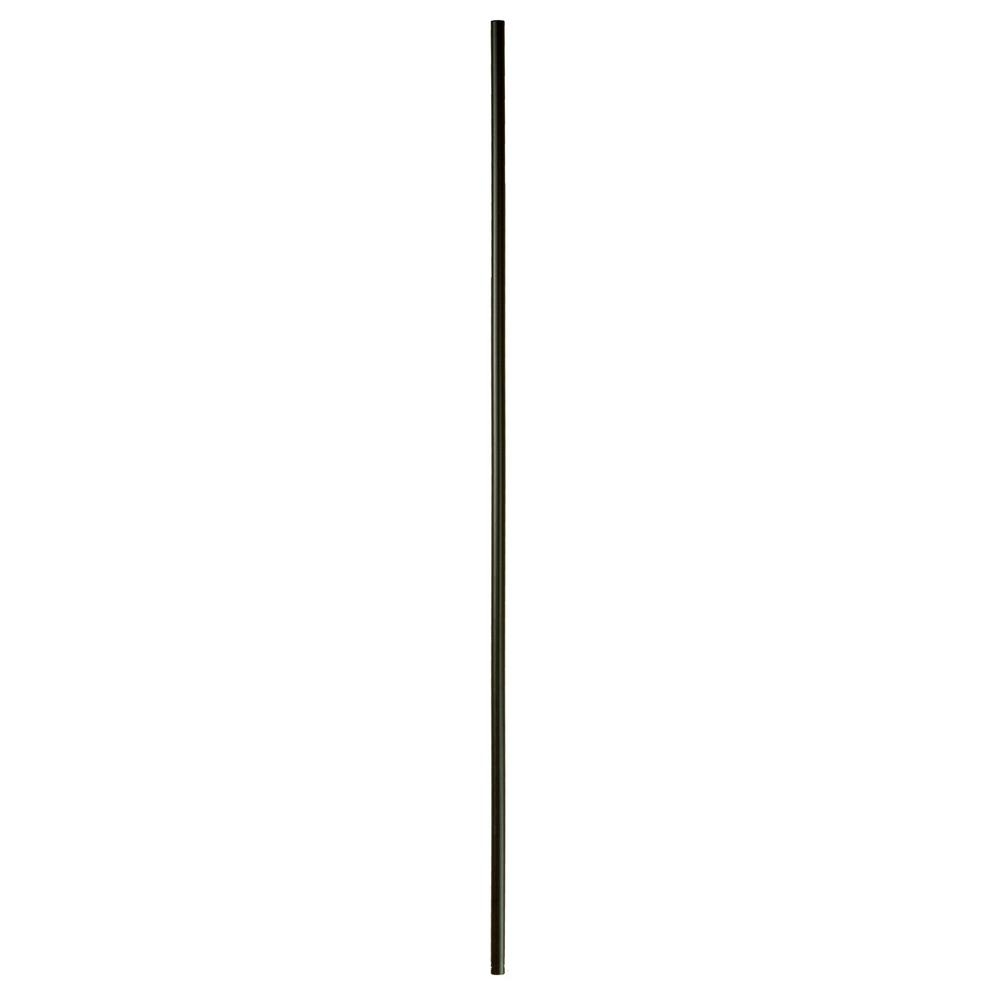 Wm Coffman 44 In X 5 8 In Satin Black Round Venetian Plain   Home Depot Metal Balusters   Cedar   Rubbed Bronze   Wrought Iron Balusters   Staircase   Spindles