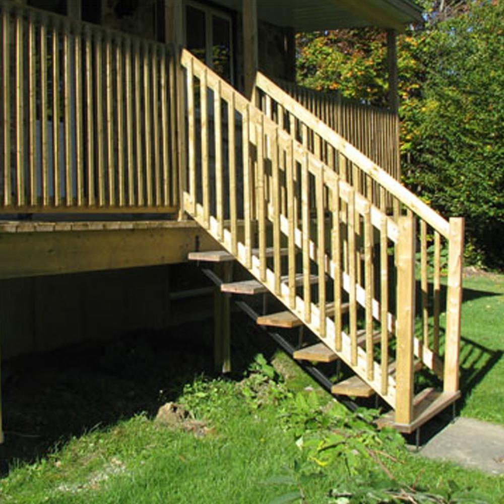 Pylex 6 Steps Steel Stair Stringer Black 7 1 2 In X 10 1 4 In | Metal Stairs Home Depot | Stair Tread | Stair Stringer | Stair Parts | Handrail | Stair Railing