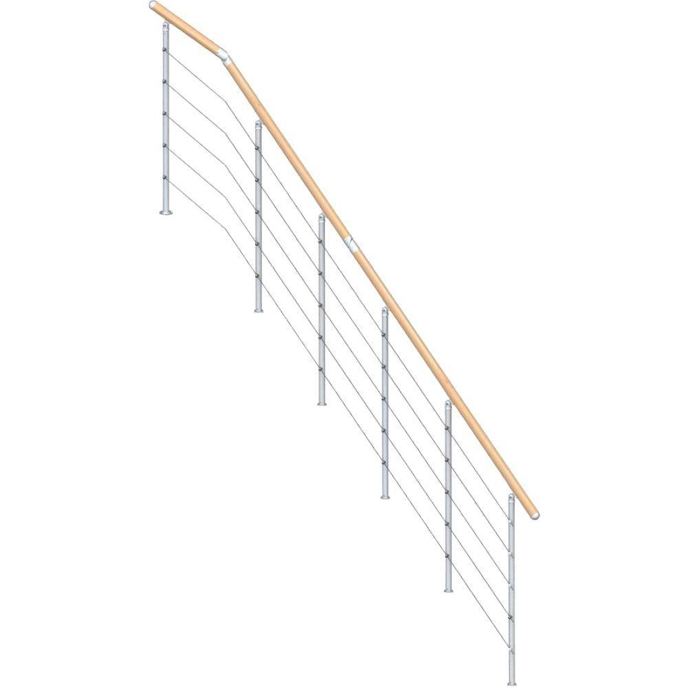 Kit Interior Stair Railings Stair Parts The Home Depot | Interior Railings Home Depot | Metal | Pre Assembled | Indoor | Interior Diy Stair | Plastic