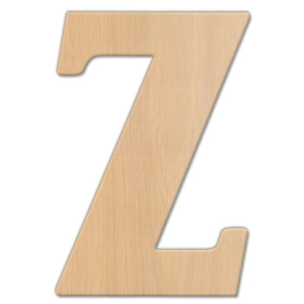Jeff McWilliams Designs 15 in  Oversized Unfinished Wood Letter  Z     Oversized Unfinished Wood Letter  Z