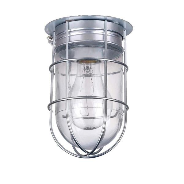 CANARM All Weather 1 Light Pewter Outdoor Ceiling Mount with Clear     CANARM All Weather 1 Light Pewter Outdoor Ceiling Mount with Clear Glass