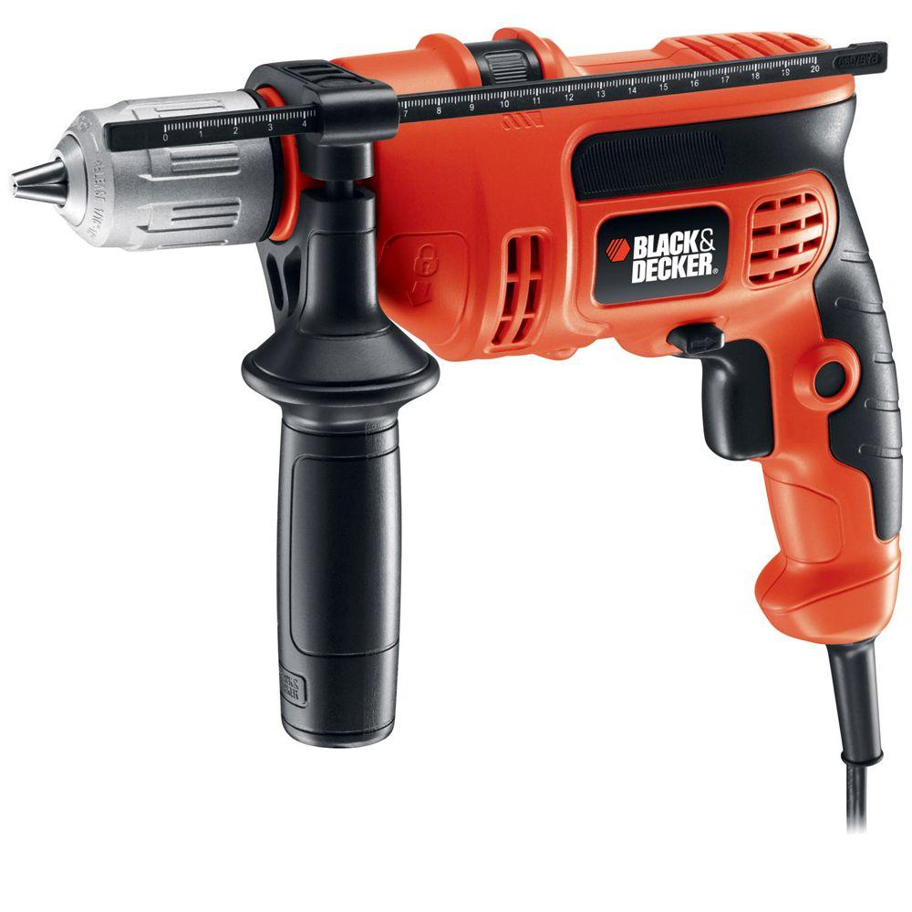 BLACK+DECKER 6 Amp 1/2 in. Hammer Drill-DR670 - The Home Depot