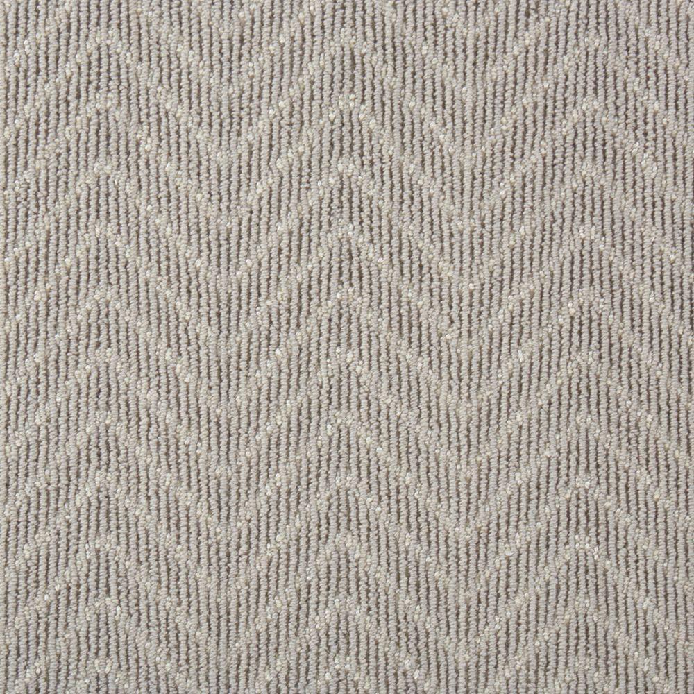 Natural Harmony Merino Herringbone Color Alloy Pattern 12 Ft | Herringbone Carpet For Stairs | High Traffic | Textured | Classical Design | Striped | Carpet Stair Treads