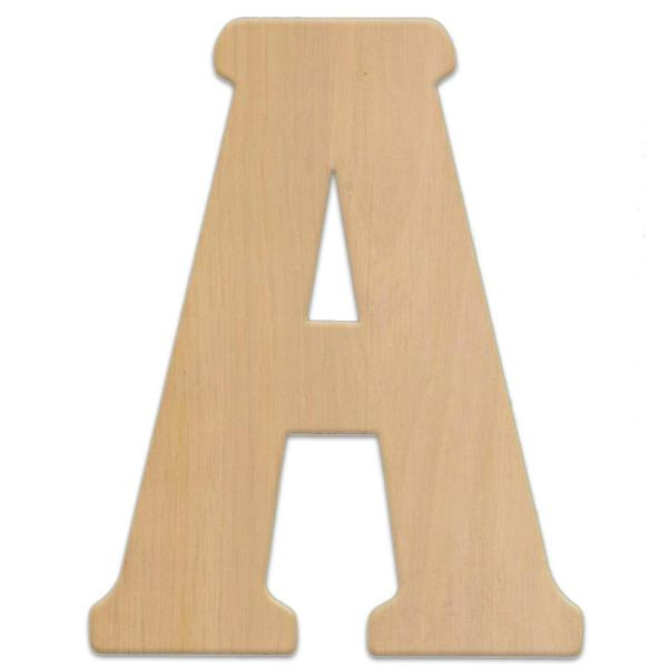 Jeff McWilliams Designs 23 in  Oversized Unfinished Wood Letter  A     Oversized Unfinished Wood Letter  A