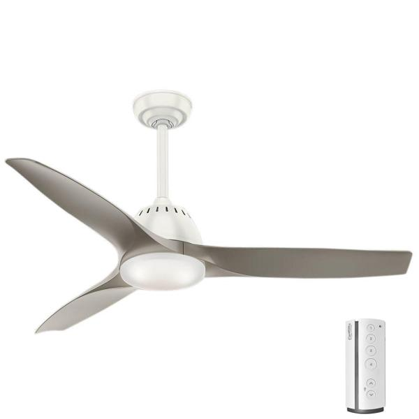 Casablanca Wisp 52 in  LED Indoor Fresh White Ceiling Fan with Light     LED Indoor Fresh White Ceiling Fan with Light and Remote