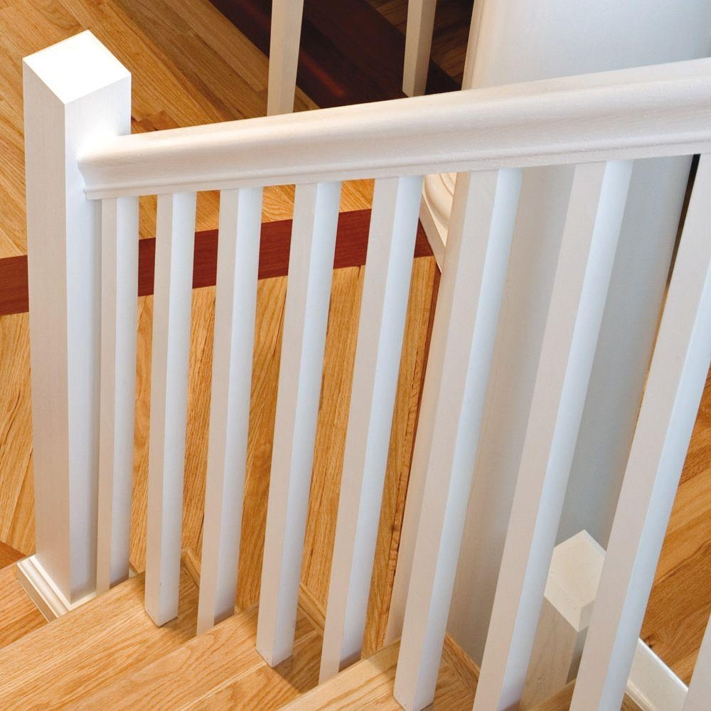 Stair Parts 6010 1 Ft Unfinished Red Oak Stair Hand Rail 6010R   6010 Red Oak Handrail   Stair Handrail   Start Easing   Iron Balusters   Tandem Cap   Staircase Handrail