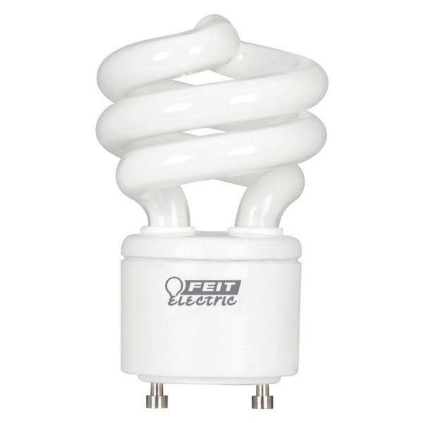 Feit Electric 60W Equivalent Daylight  5000K  Spiral GU24 CFL Light     Feit Electric 60W Equivalent Daylight  5000K  Spiral GU24 CFL Light Bulb