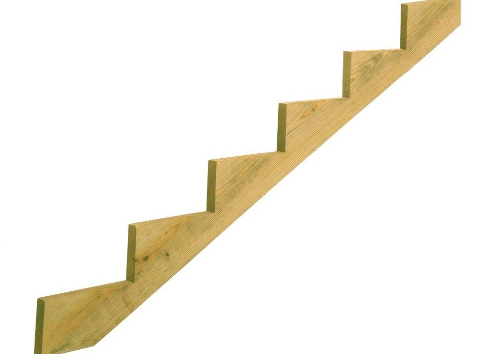 6 Step Ground Contact Pressure Treated Pine Stair Stringer 368913   Wood Steps Home Depot   Flooring   Stair Railing   Carpeted Stairs   Unfinished Pine Stair   Oak Stair Nosing