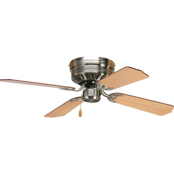 Progress Lighting AirPro Hugger 42 in  Indoor Brushed Nickel Ceiling     Progress Lighting AirPro Hugger 42 in  Indoor Brushed Nickel Ceiling Fan