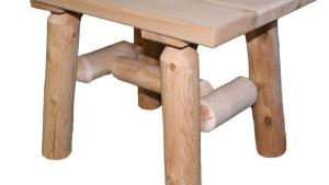 Lakeland Mills 23 In X 17 In Cedar Log Patio End Table