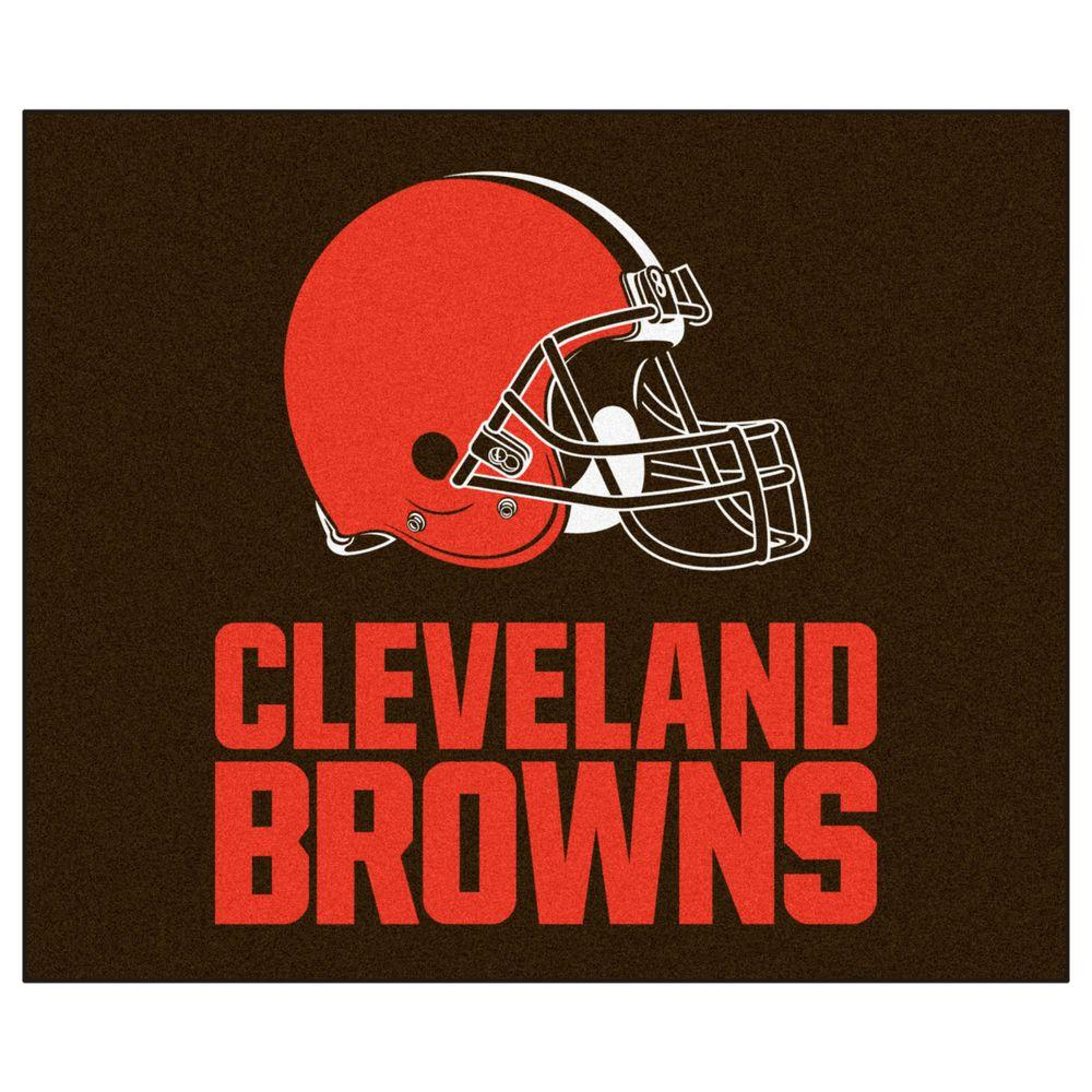 FANMATS Cleveland Browns 5 ft. x 6 ft. Tailgater Rug-5707 ...