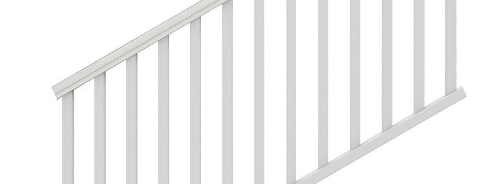Veranda Traditional 6 Ft X 36 In White Polycomposite Stair Rail | Home Depot Stair Banister | Wrought Iron Stair | Metal | Deck Railing | Railing Kits | Railing Systems